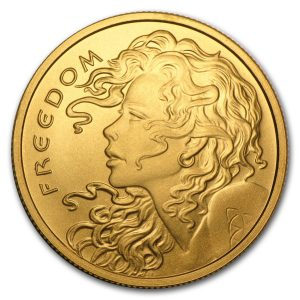 1 oz Apmex Freedom Girl Gold Round