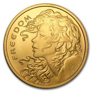 1 oz Apmex Freedom Girl Gold Round