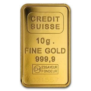 10 gram Credit Suisse Gold Bar