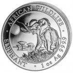 2016 1 oz Somalian Silver Elephant Coin