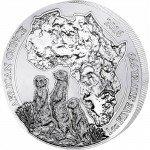 2016 1 oz Rwanda Silver Meerkat Coin