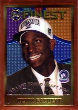 1995-96 Finest Kevin Garnett Rookie #115