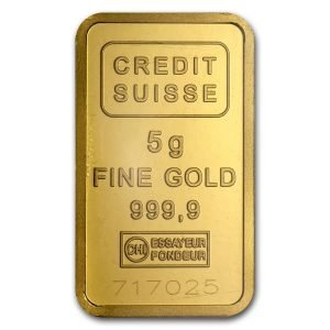 5 gram Credit Suisse Gold Bar