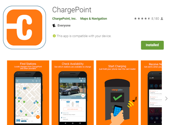 Chargepoint Google Play App