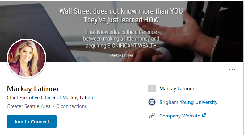 Markay Latimer Linkedin Profile