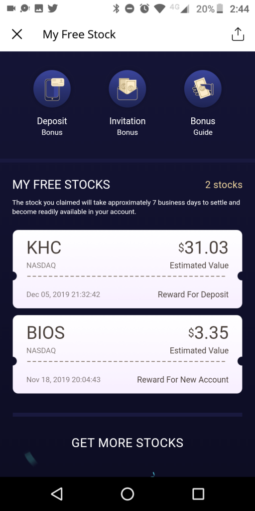 Webull Free Stock Bonus Offer
