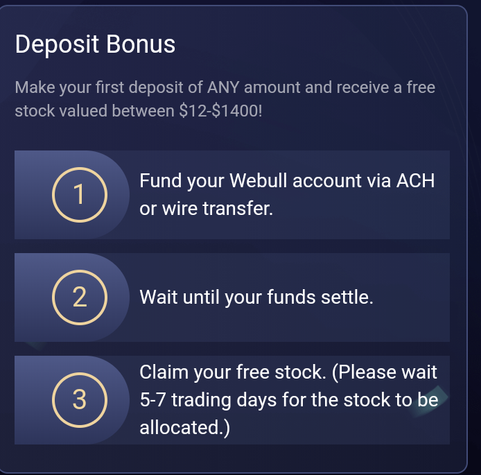 Webull Deposit Bonus Instructions