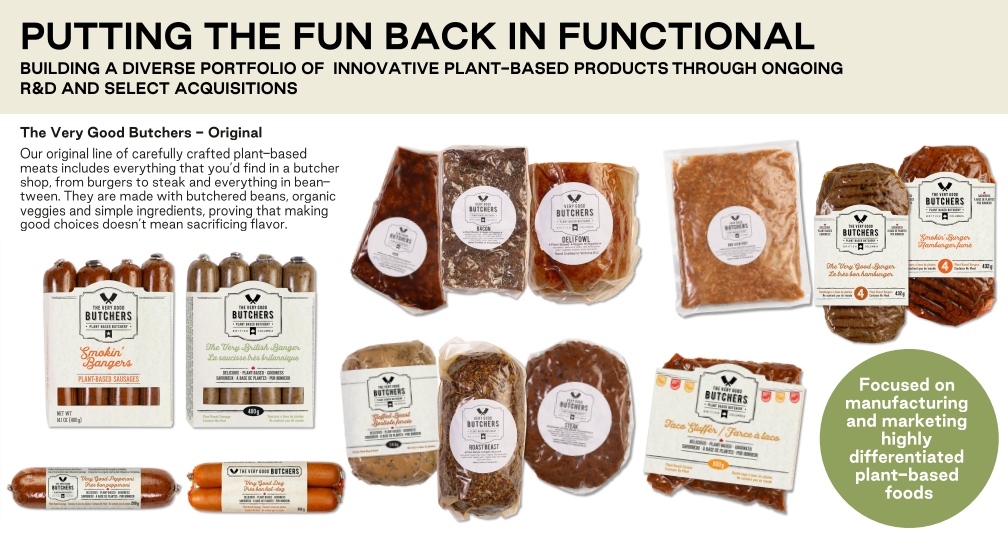 Very Good Food Company Products
