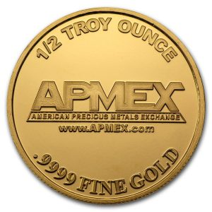 1/z of Apmex gold round