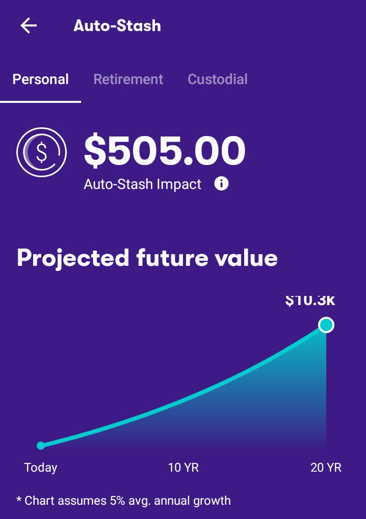 Stash Invest Autostash impact